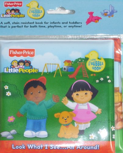 Fisher Price - Little People, Bath Time Bubble Book, Look What I See... (Sky Blue: All Around)