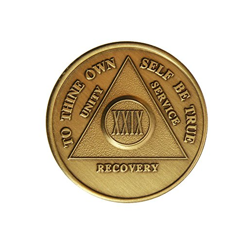 29 Year Bronze AA (Alcoholics Anonymous) - Sober / Sobriety / Birthday / Anniversary / Recovery / Medallion / Coin / Chip