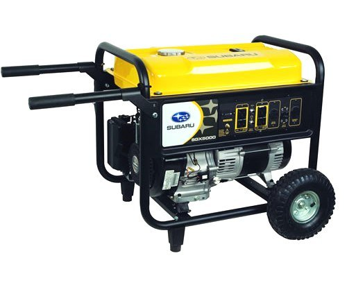 Subaru Sgx5000 4,900 Watt 9.5 Hp Ohc Ex30 Gas Powered Portable Generator With Wheel Kit