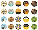 Crazy Cups Rise and Shine Caffiene Only Single-cup coffee for Keurig K-Cup Brewers Portion Premium  Packs for Keurig Brewers Sampler Pack, 20 Count