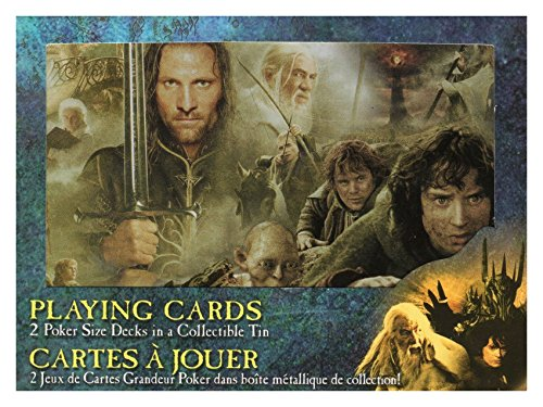 Lord Of The Rings Playing Cards 2 Poker Decks in Limited Collectable Tin NEW Xmas Gift (Lord Of D Tin compare prices)