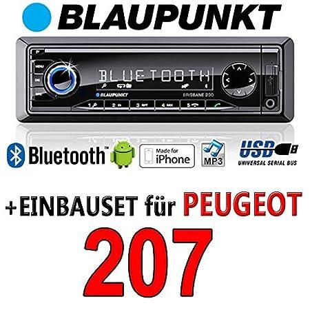 Peugeot 207 brisbane bLAUPUNKT - 230/mP3/uSB avec kit de montage autoradio avec bluetooth