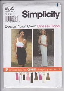 Simplicity 9865 Misses'/Miss Petite Dress Size D: 4, 6, 8