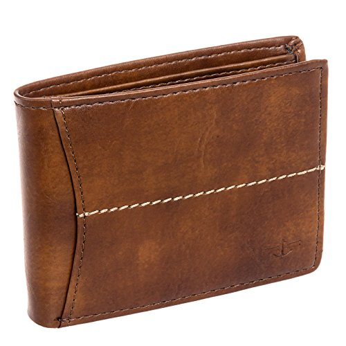 dockers-mens-leather-extra-capacity-slimfold-bifold-wallet-cognac
