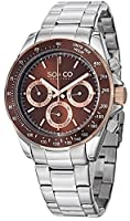SO&CO York Men's 5010B.4 Monticello Analog Display Quartz Silver Watch by SO&CO MFG