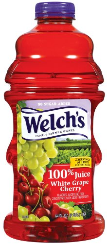 Welch's 100% White Grape Cherry Juice, 64-Ounce Bottles (Pack of 8)
