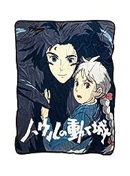 Studio Ghibli Howl\'s Moving Castle Howl & Sophie Plush Throw