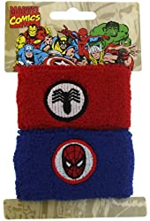 Superhero Spider Man Double Cuff Sweat Bands Pony Tail Wraps 4023