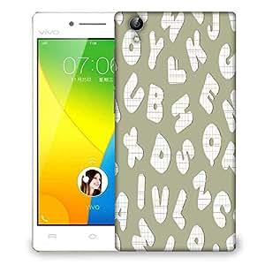 Snoogg Checks Alphabets Designer Protective Phone Back Case Cover For VIVO Y51 L