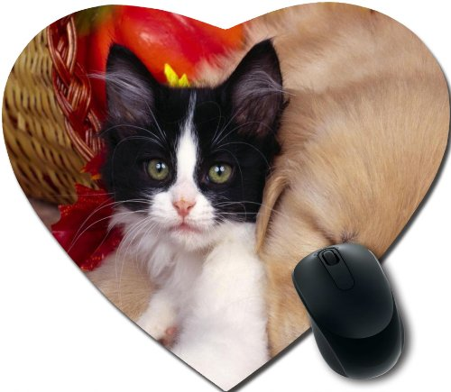 cute baby Personalized Unique Design Durable Printing heart shaped Mouse Pad