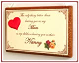 The only thing better than having you as my mum (MOTHERS DAY)wooden shabby chic style gift plaque/sign (HAND MADE IN THE UK)