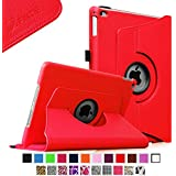 Fintie iPad Air 2 Case - 360 Degree Rotating Stand Case with Smart Cover Auto Sleep / Wake Feature for Apple iPad Air 2 (iPad 6) 2014 Model, Red