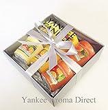 Yankee Candle - 6 Votive Sampler Branded Silver Gift Box (Incl. 1x Sicilian Lemon, 1x Mango Peach Salsa, 1x Orange Splash, 1x Citrus Tango, 1x Wakiki Melon, 1 x Fruit Fusion, Silver Tissue and Silver Ribbon.