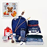 Personalized Trekker Package Waterproof Weatherproof Stick on Laundry Safe includes Labels and Bag Tags for Babies Kids and Toddlers (Medival Theme) (Color: Medival)