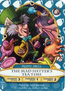 Sorcerers Mask of the Magic Kingdom Game, Walt Disney World - Card #36 - The Mad Hatter's Tea Time - 1