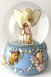 Baby Guardian Angel Musical Snow Globe