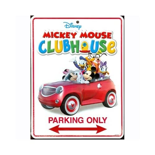 Amazon.com - Mickey Mouse Club House Metal Parking Sign - Childrens