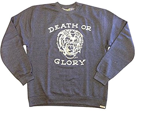 Sailor Jerry DEATH OR GLORY Mens Crew Neck Sweatshirt (Large, Navy Heather) (Sailor Jerrys Tank Top compare prices)