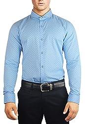 Unkonventional Light Blue Printed Shirt