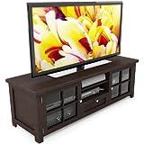 Sonax B-098-BAT Arbutus 63-Inch Wood Veneer TV Bench, Dark Espresso