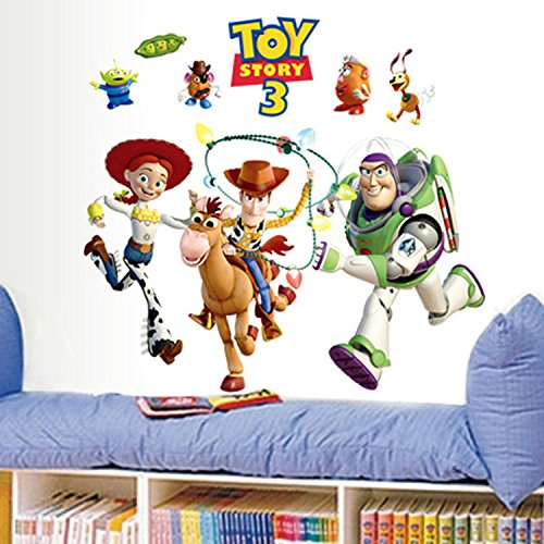Zebratown Toy Story Peel & Stick Wall Decals Glo-in Dark for Kid's Bedroom