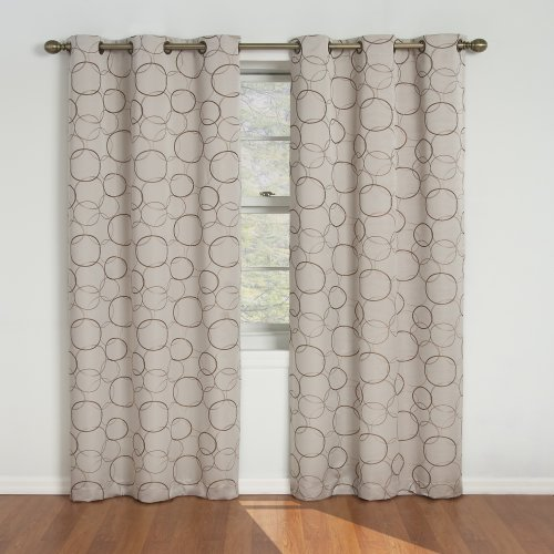 Eclipse Meridian Blackout Grommet Window Panel, 42-Inch By 84-Inch, Linen (Grommet Panel Curtains compare prices)