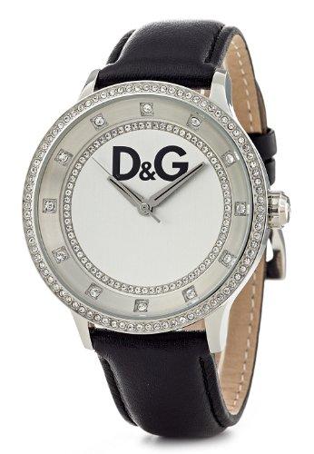 D&G Dolce & Gabbana DW0515 - Orologio da polso da donna, cinturino in pelle colore nero