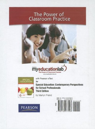 MyEducationLab with Pearson eText -- Standalone Access Card -- for Special Education (myeducationlab (Access Codes))