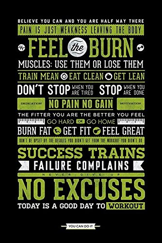 Gym Feel The Burn Dont Stop