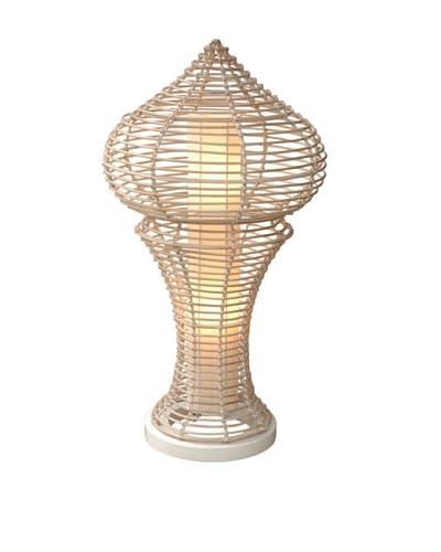 Jeffan International Siena Decorative Floor Lamp, White Wash, Medium