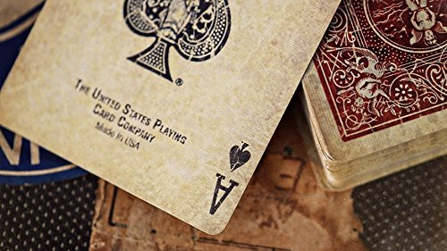 Bicycle 1800 Vintage Series Playing Cards by Ellusionist (Red) 4