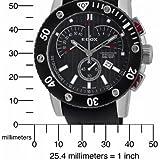 Edox Men's 01502 3N NIN Class-1 Black Rotating Bezel Watch