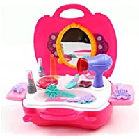 Liyin Children Simulation Beauty Salon Toys Suit Pink Girls Simulation Dressing Table Kids Cosmetics Toys Set...