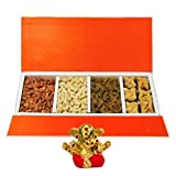 Chocholik Belgium Chocolates - Delightful Collection Of Almonds,cashew, Raisin And Baklava Gift Box With Small...