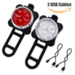 LE Rechargeable LED Bike Light Set, C...