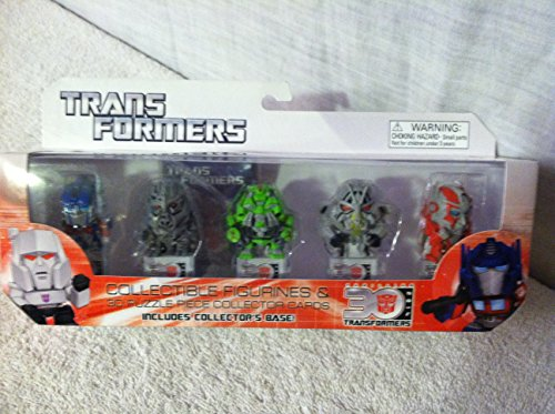 TRANSFORMERS COLLECTIBLE FIGURINES & 3D PUZZLE PIECE COLLECTOR CARDS. (SERIES 1)