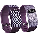 Band Cover For Fitbit Charge/Fitbit Charge HR-Slim Designer Sleeve Replacement Hr Fitbit Bands Cover (purple Lotus...