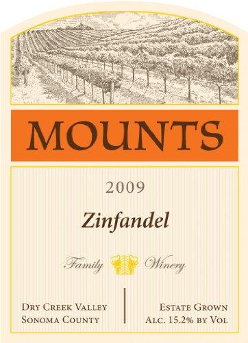 2009 Mounts Winery Estate Zinfandel Dry Creek Valley 750 Ml