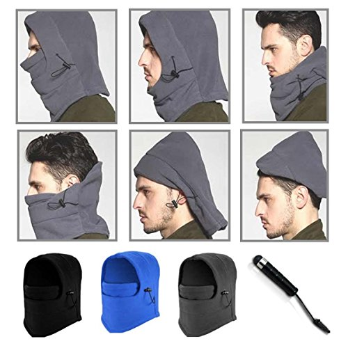 AmaziPro8 Unisex Cold Weather Mask + BONUS Stylus Pen + Phone Antidust Plug, Ski Mask Neck Warmer, Cold Weather Mask for Motorcycles,Bicycle,Skiing,Running Face Mask,Mountain Climbing - Face Masks