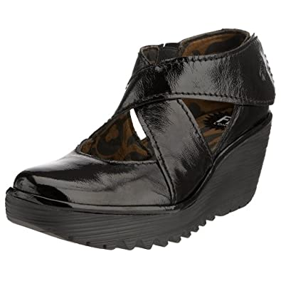 Fly London Yogo, Escarpins femme - Noir (Patent Black), 38 EU (5 UK)