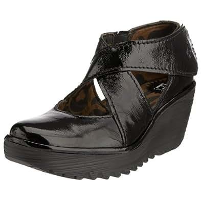 Fly London Yogo, Escarpins femme - Noir (Patent Black), 36 EU (3 UK)