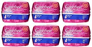 Carefree Carefree Body STape Regular Unscented, 20 Count (Pack of 6)