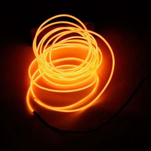 Olymstore(Tm) Holiday Lights Dy Led Flexible Lamp 3M 2-3Mm Steel Wire Rope Led Strip With Controller White (Orange)