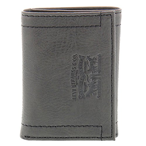 08. Levi's Men's Levi's Men's Stitch Detail With Horse Logo Trifold Wallet