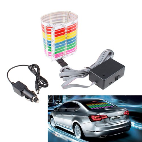 Image® 45 X 11Cm New Style Sound Music Activated Multicolor Flashing Equalizer Car Led Glow Light Stickers front-893791