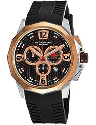 Stuhrling Original Men's 300B.33A61 Commander Swiss Quartz Chronograph Rosetone Watch