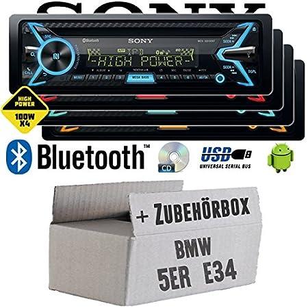 BMW 5er E34 - Sony MEX-XB100BT - Bluetooth | CD | MP3 | USB | 4x100 Watt Autoradio - Einbauset