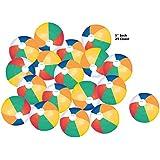 "25 Colorful Beach Balls Rainbow Color Beach Balls 5"" Inch"