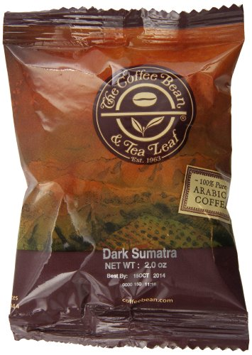 The Coffee Bean & Tea Leaf Coffee Portion Pack, Sumatra Dark, 24 Count (Pack Of 24)