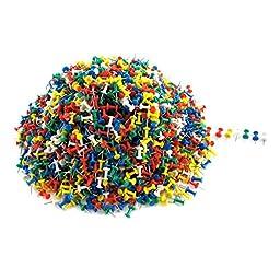 Plastic Head Metal Pushpins Map Label Thumbtacks 2600pcs Multicolor